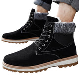 Men Fashion Winter Warm Retro Martin Short Boots Round Toe Outdoor Shoes