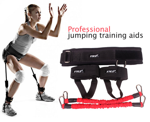 Vertical Jump Trainer Resistance Bands Fitness Equipment for Basketball Volleyball Running Leg Training