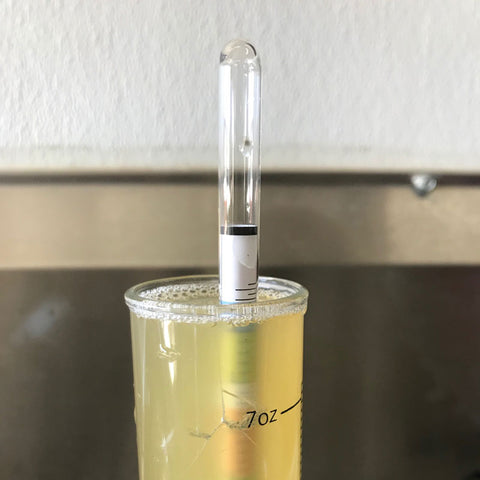 CIder Hydrometer Reading