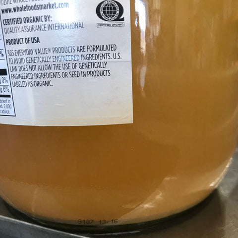 Fresh Pressed Apple Cider Fermentation Yeast Cake