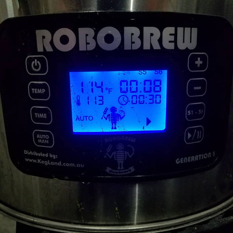 Robobrew sitting happily at Beta-Glucanase Rest