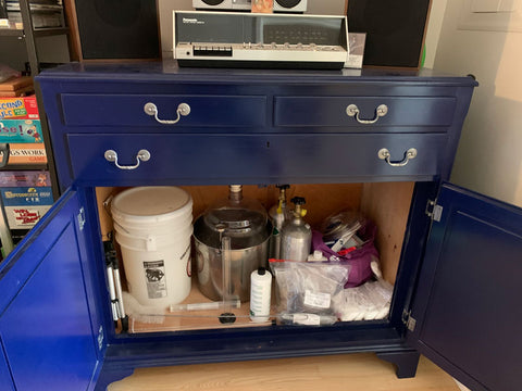 Organized Storage Space for Home Brew Equipment