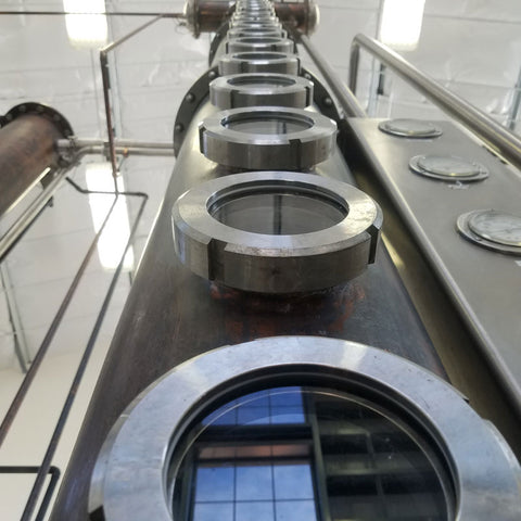 Fluted or Fractionating Column at Frey Ranch Estate Distillery