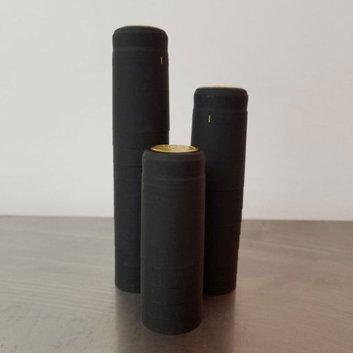 Heat Shrink Sleeves - Matte Black Pack of 25, Corks and Closures - BrewChatter HomeBrew Supply