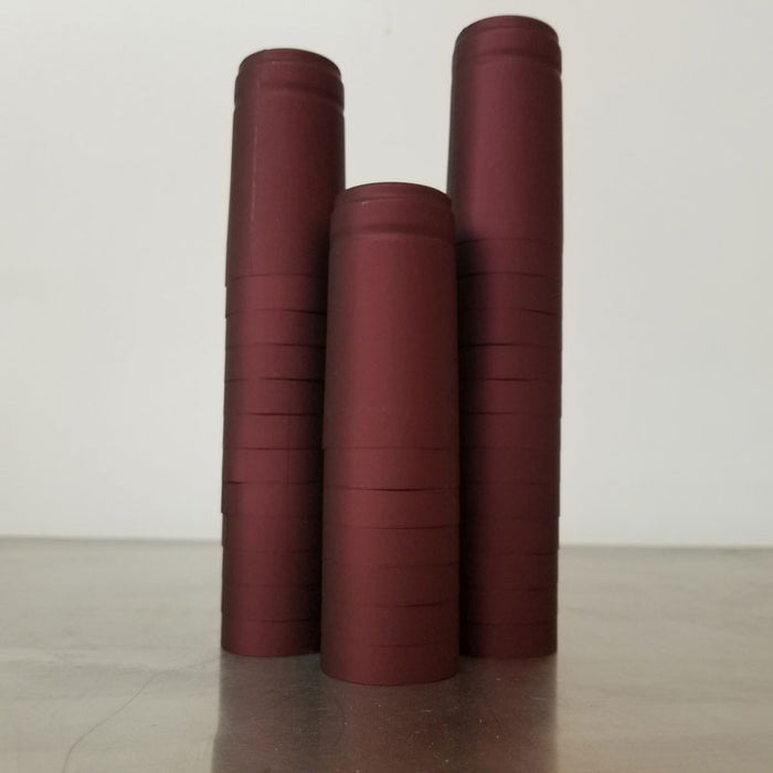 Heat Shrink Sleeves - Burgundy Pack of 25, Corks and Closures - BrewChatter HomeBrew Supply