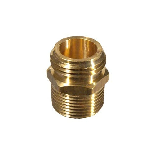 "Brass Male Garden Hose x 1/2"" FPT, Stainless Hardware - BrewChatter HomeBrew Supply"