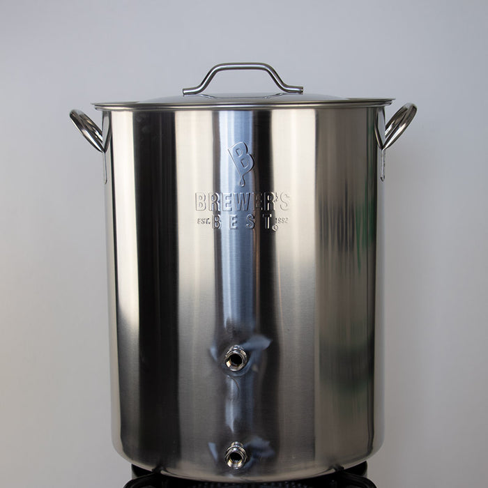 Home Brew Kettle Stainless Steel Brew Pot with Welded Ports - 16 Gallon