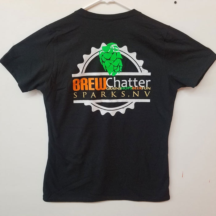 BrewChatter Ladie's Tee - Black, BrewChatter Apparel - BrewChatter HomeBrew Supply