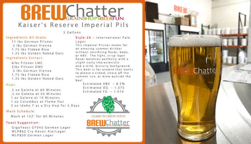 Kaiser's Reserve Imperial Pils - Extract, EX Kits - BrewChatter HomeBrew Supply