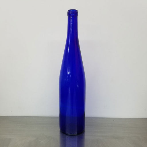 Blue Stretch Hock Bottles 375 mL, Wine Bottles - BrewChatter HomeBrew Supply
