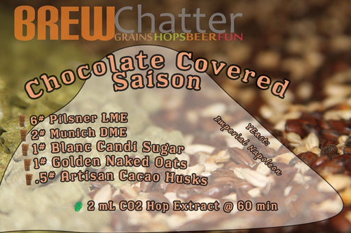 Chocolate Covered Saison 5 Gallon Extract Beer Ingredient Kit