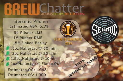 Seismic Brewing Company Pilsner Extract Beer Kit for 5 gallons