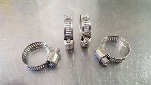 "SS Worm Clamp 3/8"" to 3/4"""