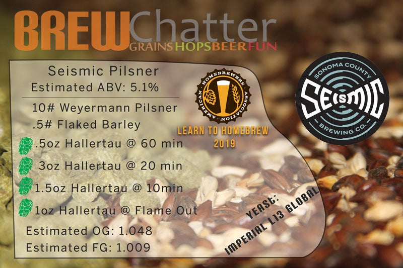 Seismic Brewing Company Pilsner All Grain Beer Kit for 5 gallons