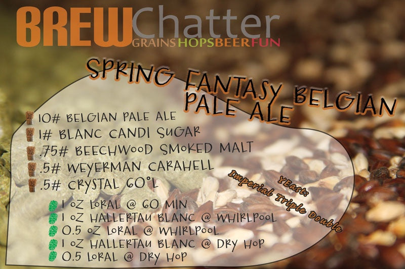 Spring Fantasy Belgian Pale Ale - All Grain Beer Recipe Kit