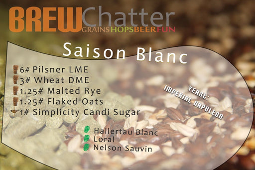 Extract Beer Recipe Kit Saison Blanc Home Brew Kit