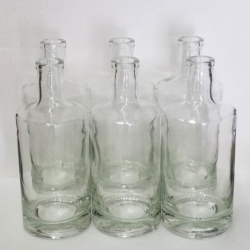 Clear Jersey Design Spirit Bottle 750 mL Case of 6