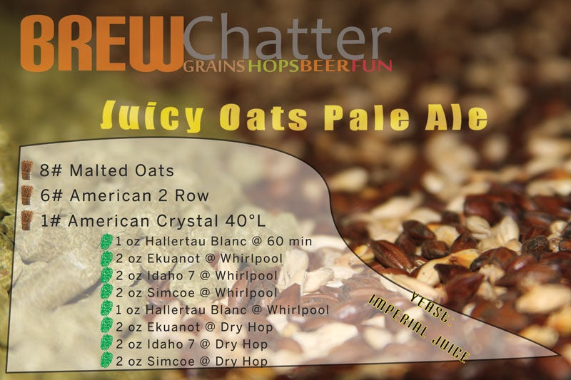 Juicy Oats Pale Ale - All Grain Beer Kit for 5 Gallons