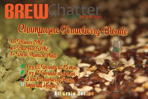 Champagne Strawberry Blonde Extract Home Brew REcipe Kit