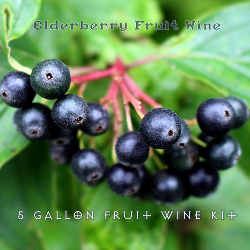5 Gallon Fruit Wine Kit Elderberry
