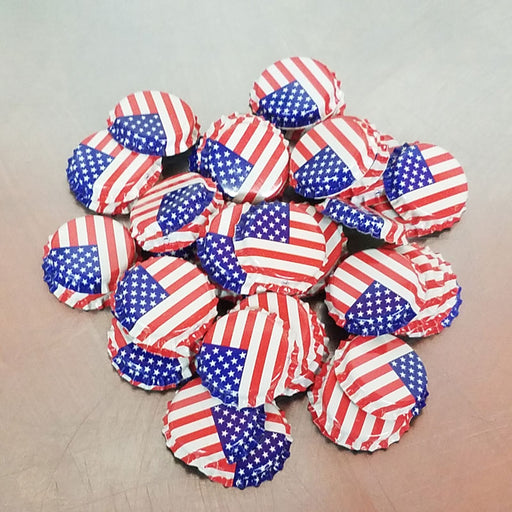Bottle Caps - American Flag