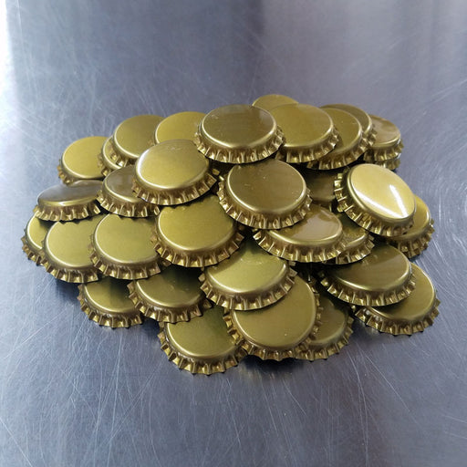Bottle Caps - GOLD (Bulk Pack 144)