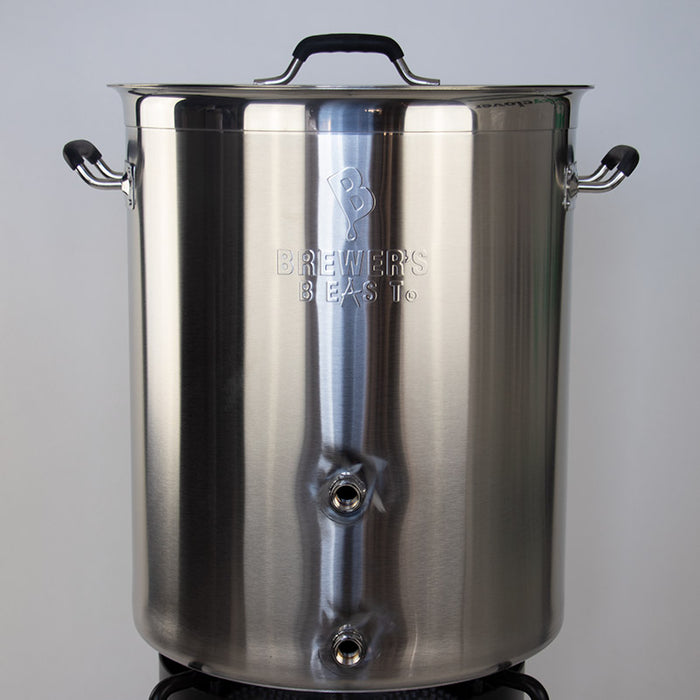 Home Brewing Kettle by Brewers Beast Brewing  with Welded Ports - 16 Gallon