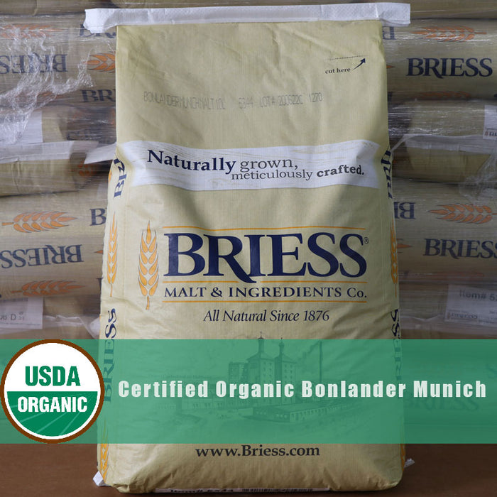 Briess Organic Bonlander Munich Malt in Bulk 50 lb sack