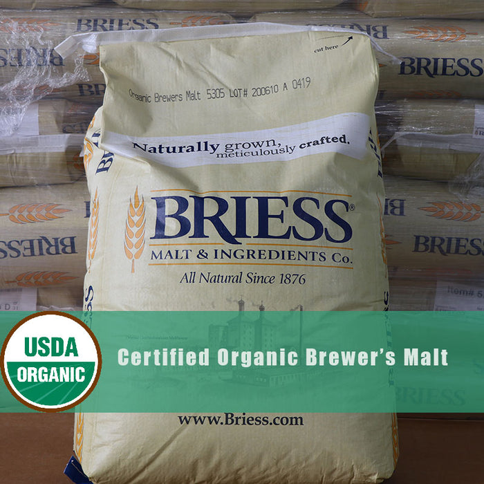 #2Row Brewers Malt Briess Certified Organic Kosher