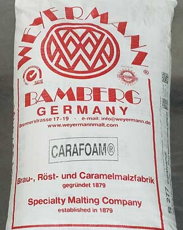 Weyermann Carafoam 55 lbs, Bulk Grains - BrewChatter HomeBrew Supply