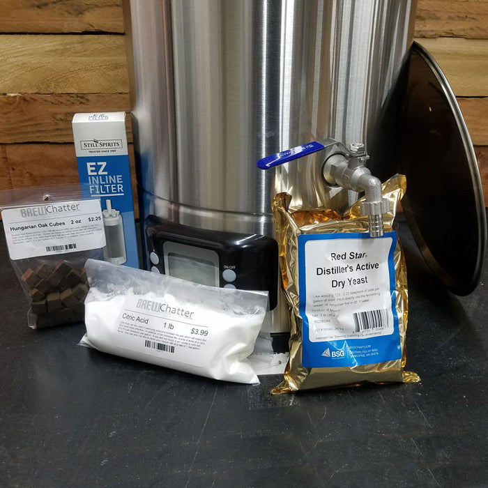 Complete Distiller Kit with Mash and Boil , Still Spirits T500 Column , Distillers Yeast , EZ Filter