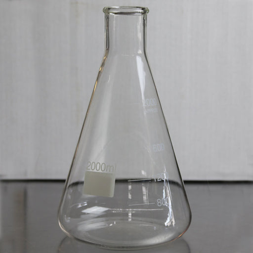 2 Liter 2000 mL Erlenmyer Flask for Yeast Propagation