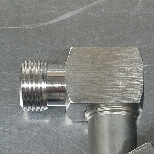 Keg Coupler Elbow Stainless Steel for low clearance Kegerator