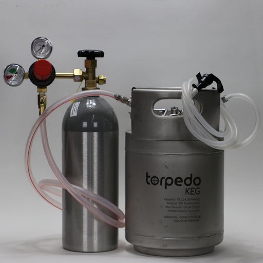 Kegging Kit Complete with 2.5 gallon Torpedo Ball Lock Keg