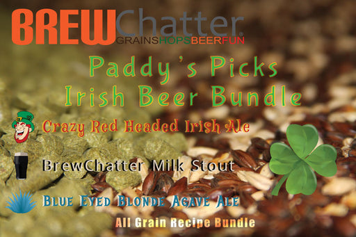 Irish Red and Irish Stout and Irish Blonde Beer Recipe Kit All Grain