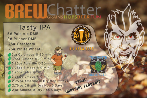 Mike 'Tasty' Mcdole Tasty IPA Collaboration with Heretic Brewing and True Symmetry Brewing Extract Beer Kit