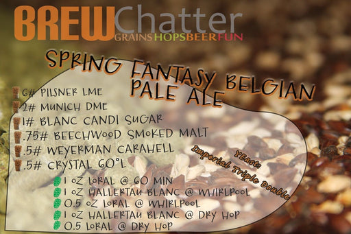 Spring Fantasy Belgian Pale Ale - Extract Beer Recipe Kit