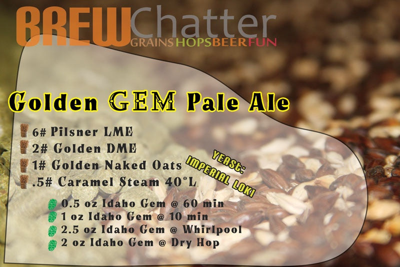Golden Gem Idaho Gem Pale Ale Extract Homebrew Beer Kit
