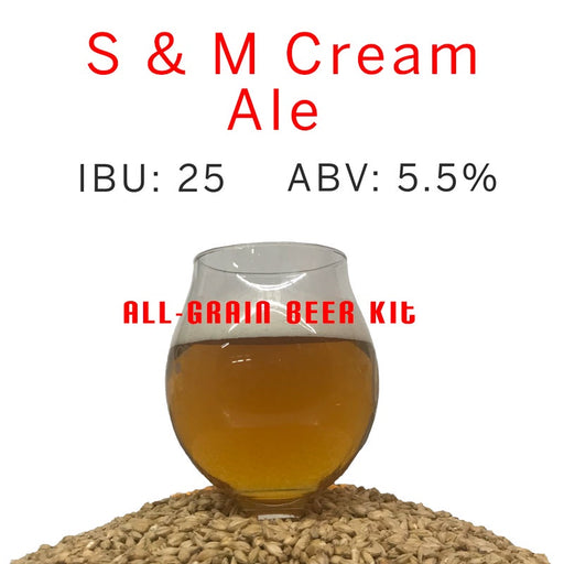 Beer Kit, Cream Ale, Home Brew Kit, Home Brew Recipe, Beer Recipe, Recipe Kit, All Grain, All-Grain, Grain