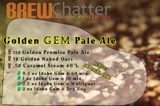 Golden Gems Idaho Gem Golden Promise Pale Ale Beer Recipe Brew Kit