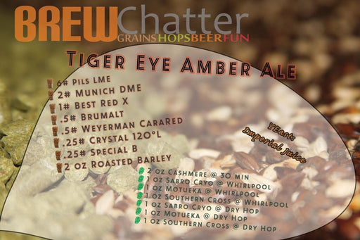 Tiger Eye Amber Ale - 5 Gallon Extract Beer Recipe Kit
