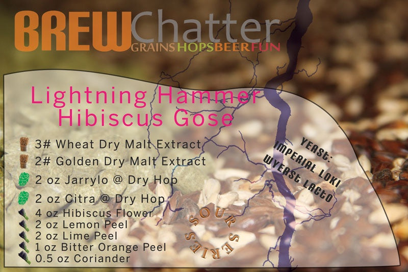 Lightning Hammer Hibiscus Gose Extract Beer Kit, sour, gose, farmhouse ales, farmhouse beers, spontaneous fermentation