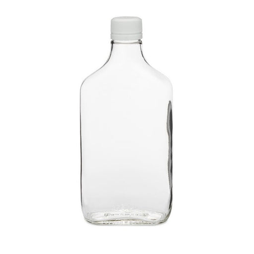 Clear Glass Flasks 375 mL with Lid case of 24