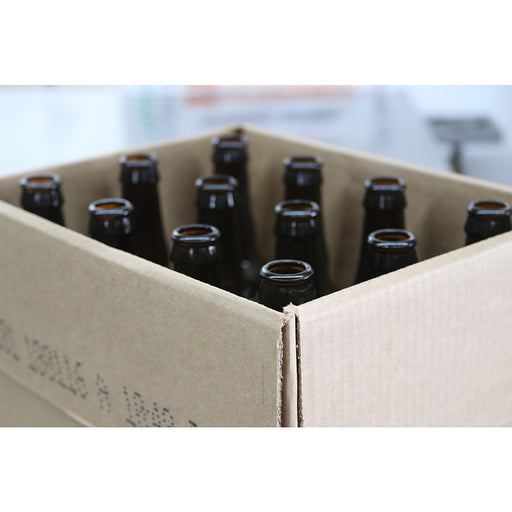22 oz Standard Amber Bottles - Case 12