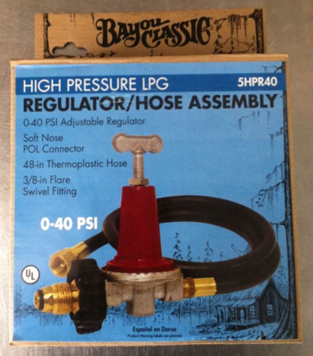 40 PSI Regulator with hose