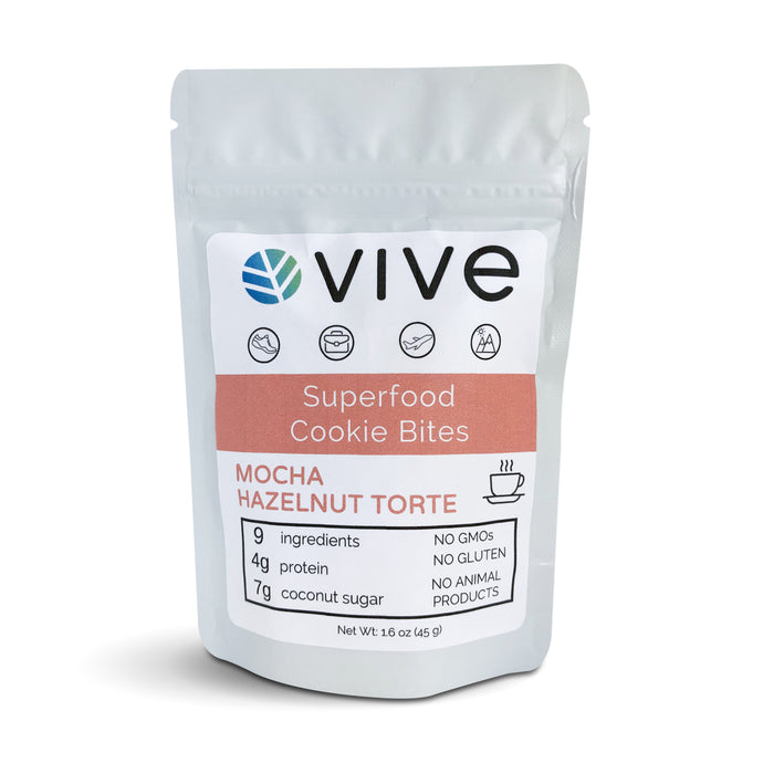 Mocha Hazelnut Torte Superfood Cookie Bites - 12 pack