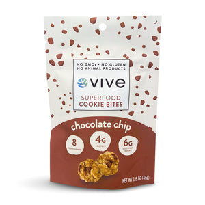 Chocolate Chip Superfood Cookie Bites- 12 pack