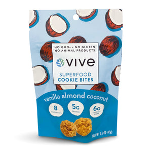 Vanilla Almond Coconut Superfood Cookie Bites