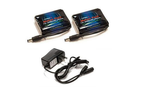2 12V 2600mAh Lithium Rechargeable Battery/ Charger Combo