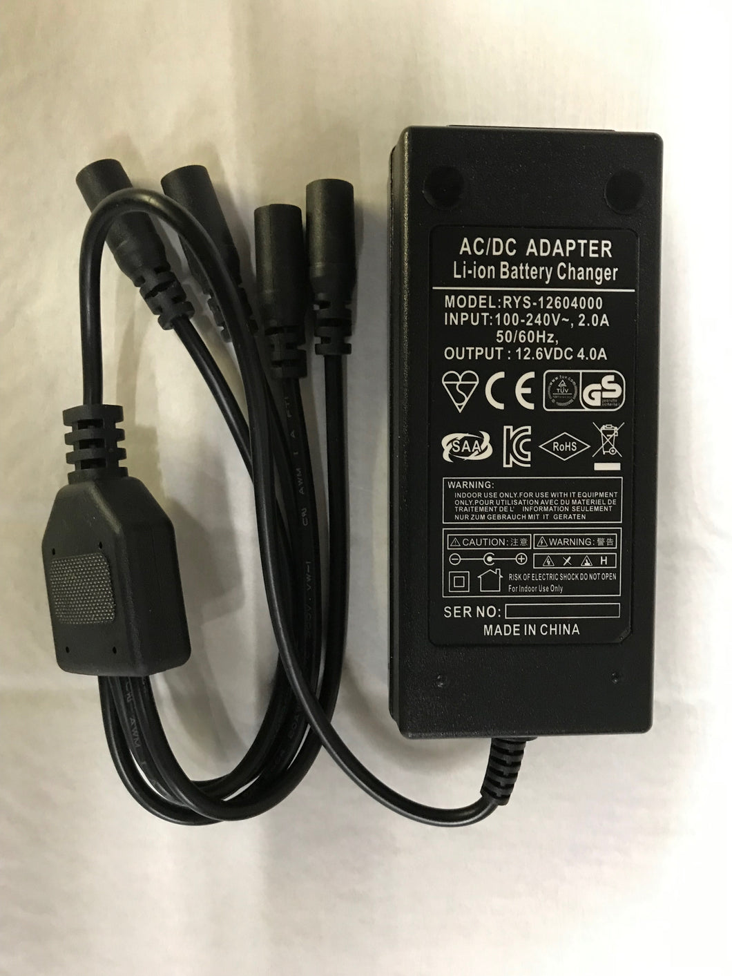 12V 4amp Lithium Battery Charger 100-240VAC